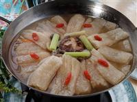 锅仔木瓜豆腐竹笙