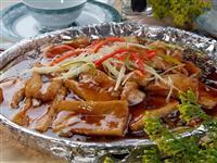铁板鲜冬菇豆腐
