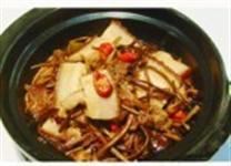 茶菇焖五花肉