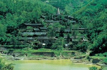 玉龙湖风景区,苍南碗窑古村风景
