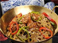 干锅脆藕牛肉